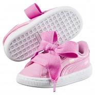 Chaussure Puma Basket Heart Fille Rose (545VJPLY)