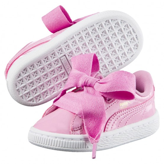 Puma Basket Heart Shoes Girls Prism Pink-Prism Pink (545VJPLY)