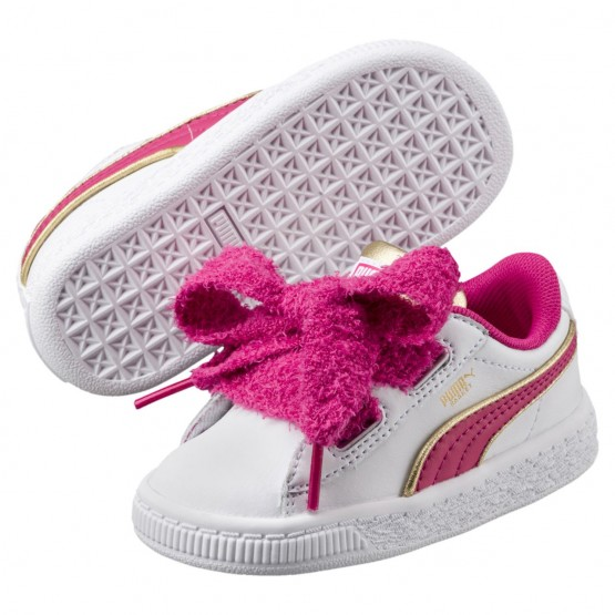 Puma Minions Shoes Girls White-Beetroot Purple-Gold (552LXBEA)