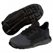 Puma Enzo Shoes Boys Black-Iron Gate (555LWYVZ)