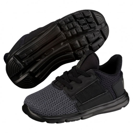 Puma Enzo Shoes Boys Black-Iron Gate (555LWYVZ)