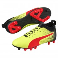 Puma evoKNIT Shoes Boys Yellow-Red-Black (565FKTQB)
