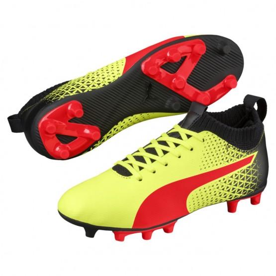 Chaussure Puma evoKNIT Garcon Jaune/Rouge/Noir (565FKTQB)