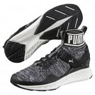 Puma IGNITE evoKNIT Shoes Mens Black-Quiet Shade-White (569AXPIQ)