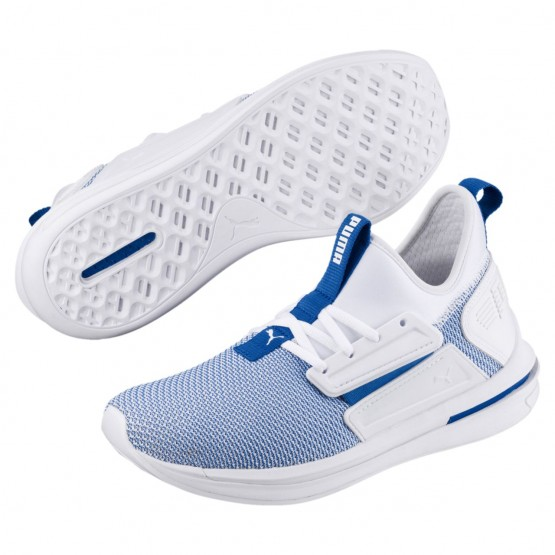 Chaussure Puma IGNITE Limitless Homme Blanche/Bleu (572XFULO)