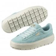 Puma Platform Shoes Womens Aquifer-Blue Flower (576OUZVJ)