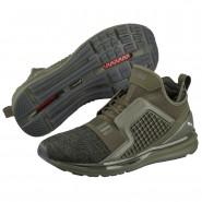 Puma IGNITE Limitless Running Shoes Mens Olive Night-Black (580CLEAU)