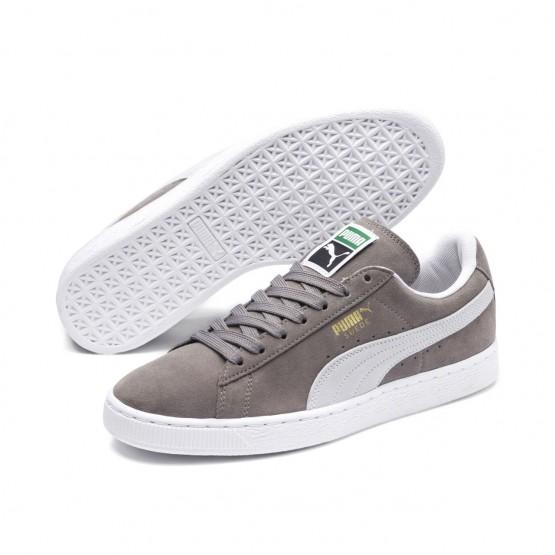 Puma Suede Classic Shoes Mens Steeple Gray-White (580SZYIF)