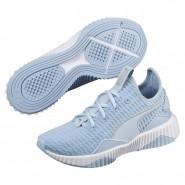 Puma Defy Shoes Girls Cerulean-White-Silver (586YRGOU)