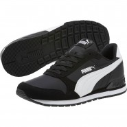 Puma ST Runner v2 Shoes Boys Black-White (587DKOHU)
