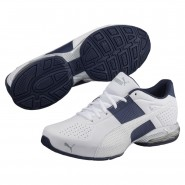 Puma Cell Shoes Mens White-Peacoat-Quarry (594ONCTP)