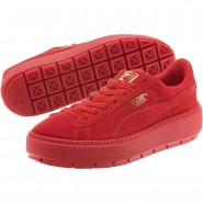 Puma Suede Platform Shoes Womens Red Dahlia-Barbados Cherry (599WUVPO)