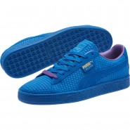 Puma Suede Classic Shoes Mens Royal-Team Gold (607RVWDE)