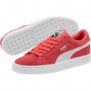 Puma Suede Classic Shoes Boys Paradise Pink-White (616JOAZU)