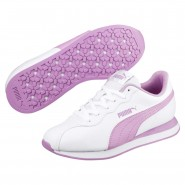 Puma Turin Shoes Boys White-Orchid (623XAODP)