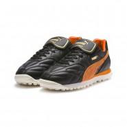 Puma King Shoes Mens Black-Vibrant Orange (643UDEAX)