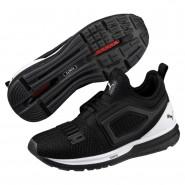 Puma IGNITE Limitless Shoes Boys Black-White (645VNRAG)