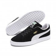 Puma Suede Classic Shoes Mens Black-White (647HULVW)