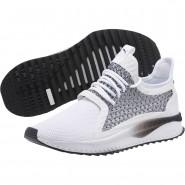 Puma TSUGI NETFIT Shoes Womens White-Black (648JWPIV)