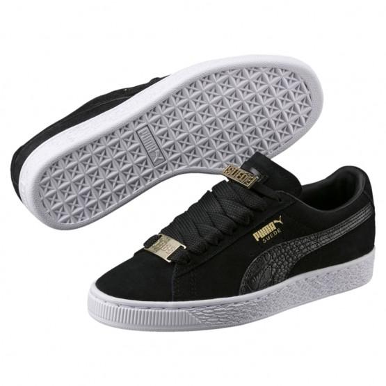Puma Suede Classic Shoes Boys Black-Black (652QVCHJ)