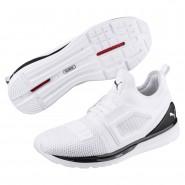 Puma IGNITE Limitless Shoes Mens White-Black (654RBZHG)