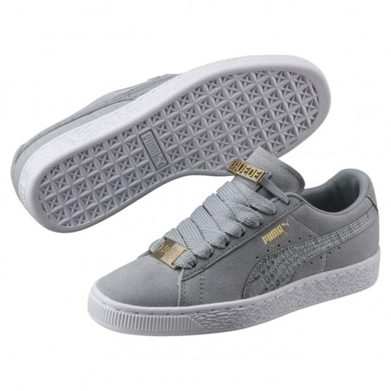 Chaussure Puma Suede Classic Garcon Grise Foncé (670FWEXM)