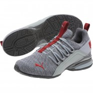 Puma Axelion Shoes Mens Quarry-Quiet Shade-Red (683INEBL)