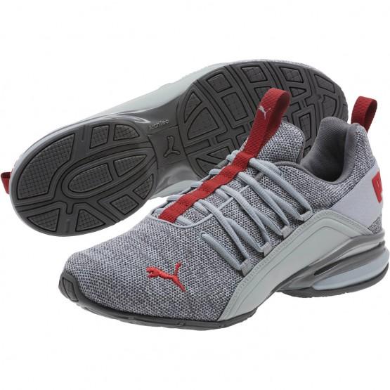 Puma Axelion Shoes Mens Quarry-Quiet Shade-Red (683INEBL)