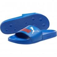 Puma Leadcat Sandals Mens Olympian Blue-Flame Scarlet (684FMQWO)