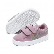 Puma Suede Shoes Boys Pink Lady-Team Gold (684HIUQP)