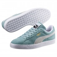 Puma Suede Classic Shoes Mens Aquifer-White (684XIERU)