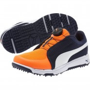 Puma Grip Shoes Boys Peacoat-White-Orange (689FYHJQ)