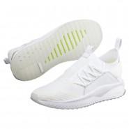 Puma TSUGI JUN Shoes Mens White-Pale Lime Yellow (701PGOWL)