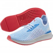 Puma AVID EVOKNIT Running Shoes Mens White-Nebulas Blue-Pink (706UBSHZ)