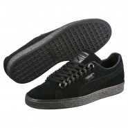 Puma Suede Classic Shoes Mens Black-Black (707MKGWF)