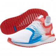 Puma TSUGI NETFIT Running Shoes Mens White-Flame Scarlet (711HQKXL)