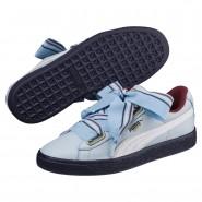 Puma Basket Heart Shoes Womens Cerulean-Cerulean (712XCPBL)