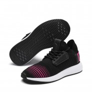 Puma Uprise Shoes Boys Black-Knockout Pink-White (719JUOIP)