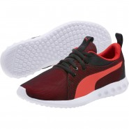 Puma Carson 2 Shoes Boys Black-Flame Scarlet (720XCMBW)