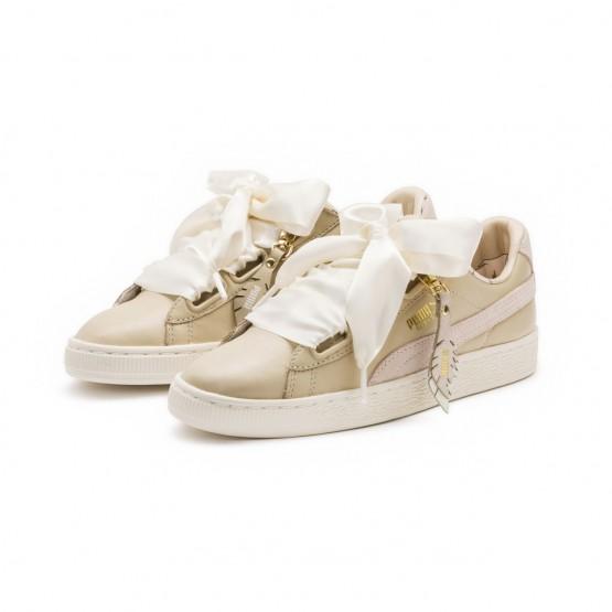 Puma Basket Heart Shoes Womens Semolina (723MBNFJ)