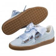 Puma Basket Heart Shoes Womens Cerulean-Cerulean (725XIRPB)
