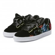 Puma Basket Heart Shoes Womens Black (743LUJAC)