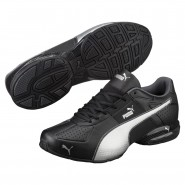 Puma Cell Shoes Mens Black-Silver-Dark Shadow (744LIWCA)