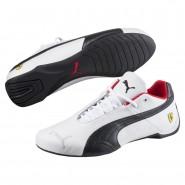 Puma Ferrari Shoes Mens White-Black-Rosso Corsa (744YQBFX)