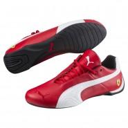 Puma Ferrari Shoes Mens Rosso Corsa-White-Black (748TOREP)