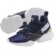 Puma Muse Shoes Womens Peacoat-Metallic Gold (759PGFYN)