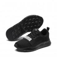 Puma Wired Shoes Girls Black-Black-Black (761YIMPR)