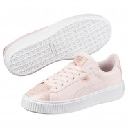 Puma Basket Platform Shoes Womens Pearl-Rose Gold (762MLHKS)