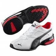 Puma Tazon 6 Shoes Boys White-Black-Silver (769BHNPW)