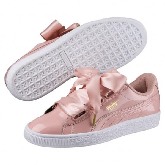 Puma Basket Heart Shoes Womens Peach Beige-Peach Beige (769NQETP)